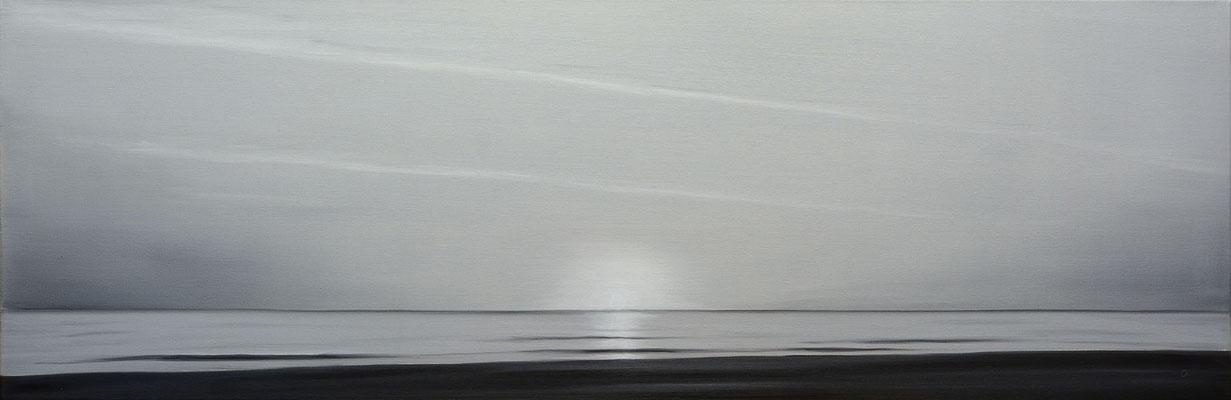 Solnedgang på Rømø (40x120)