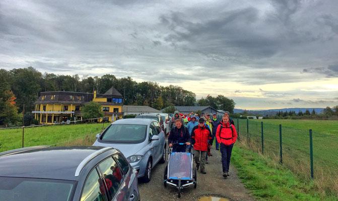Mit Kinderjogger auf der 6 Km-Wandertour rund um Katzwinkel / Westerwald