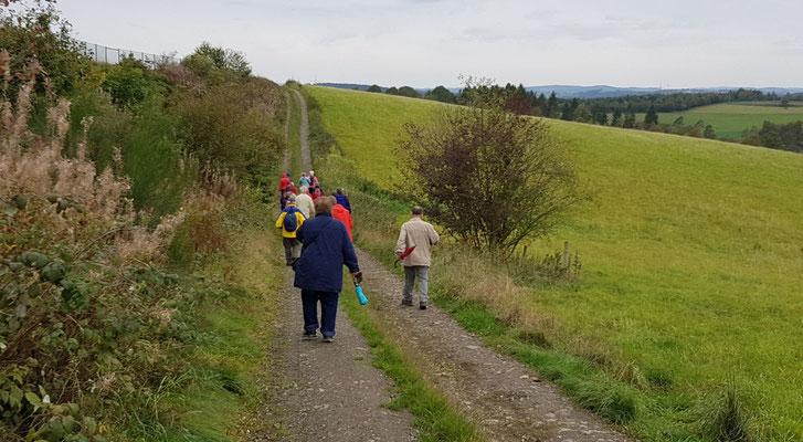 Die 6 Kilometer-Wandergruppe auf Tour