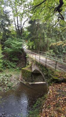 Auf dem Rückweg Richtung Wilhelmsteg über die Steinerne Brücke von 1891 (Nähe Heuzert)