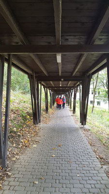 Auf dem Rückweg an der Abtei Marienstatt