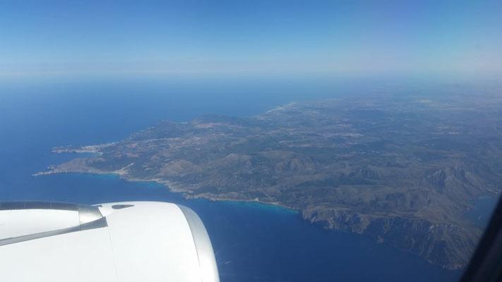 Landeanflug Mallorca