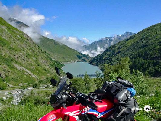 Lac de Toules - Motoglobe Motorradtest Honda CRF300Rally