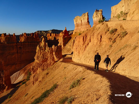 Auf zu einer kurzen Morgenwanderung durch den Bryce Canyon