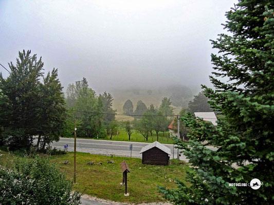 Morgens kann es in der Region der Plitvicer Seen im September schon recht kalt werden