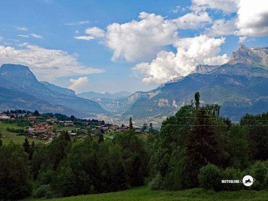 Schöne Ausblicke kurz vor Saint-Gevais-les-Bains