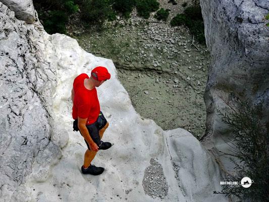 Wandern in dieser Region heisst auch manchmal etwas klettern