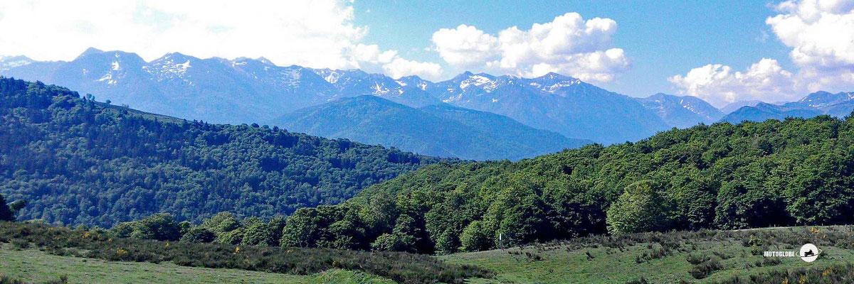 Ausblick auf die Pyrenäen vom Col de Chioula