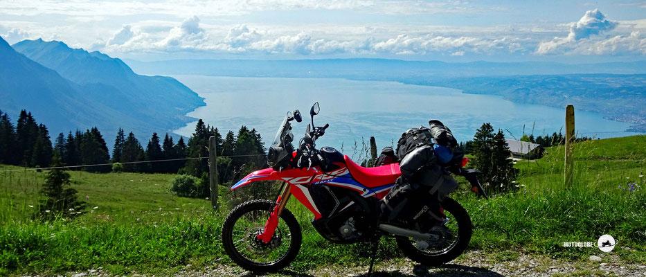 Genfersee - Motorglobe Motorradtest Honda CRF300Rally