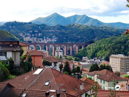 Rückblick auf die Vororte von Genua