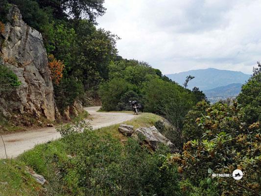 Die Schotterstrasse ins Valle dei Lanaittu