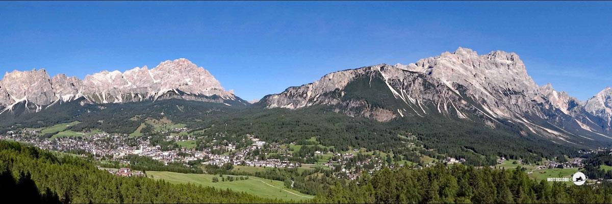 Das Panorama oberhalb Cortina d'Ampezzo