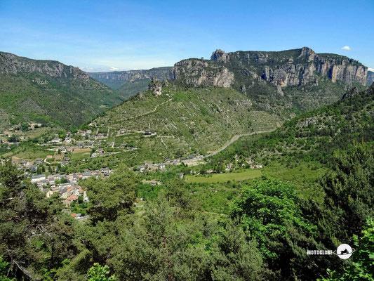 Das Panorama oberhalb von Rozier