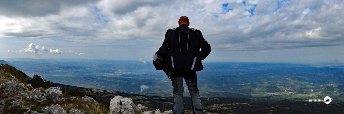 Das Panorama vom Berg Vojak