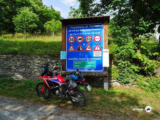Colle delle Finestre - Motoglobe Motorradtest Honda CRF300Rally