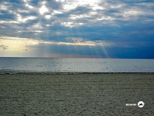 Morgenstimmung am Strand in Griechenland