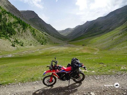 Col du Parpaillon - Motoglobe Motorradtest Honda CRF300Rally