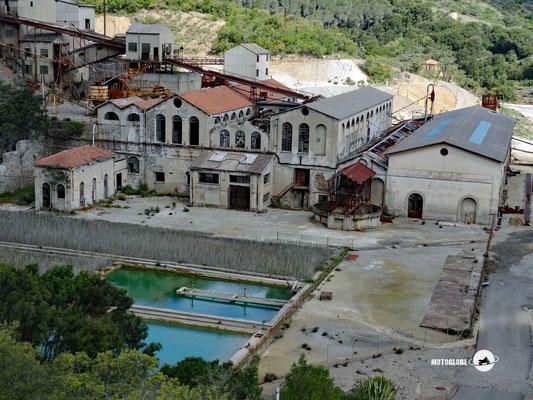 Verfallene Mine in Montevecchio