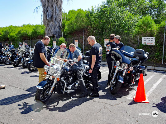 Motorradübernahme bei Eagle Riders Los Angeles