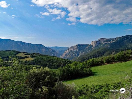 Die Aussicht auf dem Alt de Moncortes