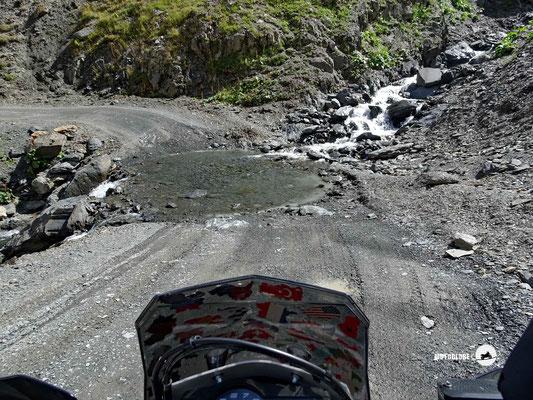 Bachdurchfahrten sind auf der 70km langen Strecke normal