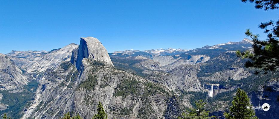Glacier Point, atemberaubender Blick auf dem Yosemite Natl. Park