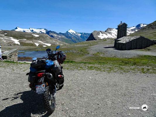 Col de L'Iseran - Motoglobe Motorradtest Honda CRF300Rally