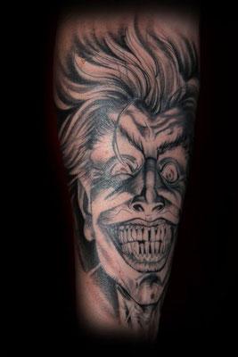 Joker, Design von Comic-Art Genie Tony Moore, Tattoo von ilvi