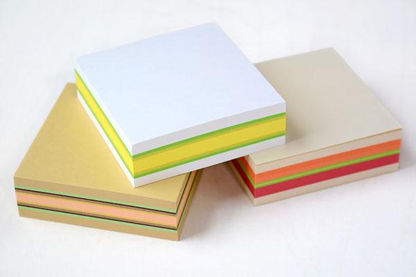 食パン箱入りサンドイッチブロックメモ帳 たまごサンド、BLTサンド、カツサンドの3種類をイメージ