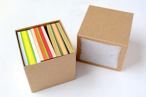 食パン箱入りサンドイッチブロックメモ帳 3種類のブロックメモ帳