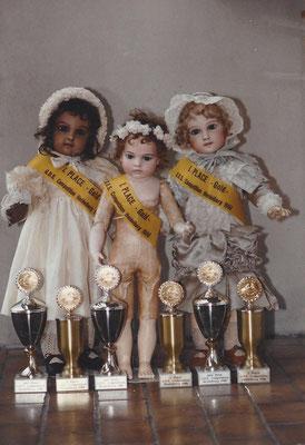 3 Mal erster Preis Gold der Jury und 3 Mal Puplikumspreis, Salzburg 1988