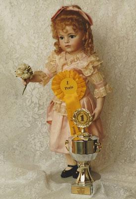"""1. Preis Wanke Puppenwettbewerb in Wien, 1996, Kategorie """"Französische Puppen"""""""