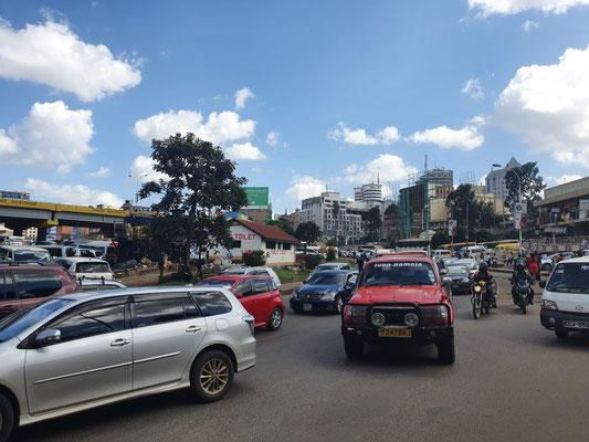 Verkehr in Nairobis Stadtzentrum
