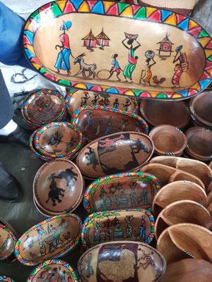 Besuch auf dem Massai Market im Village Market