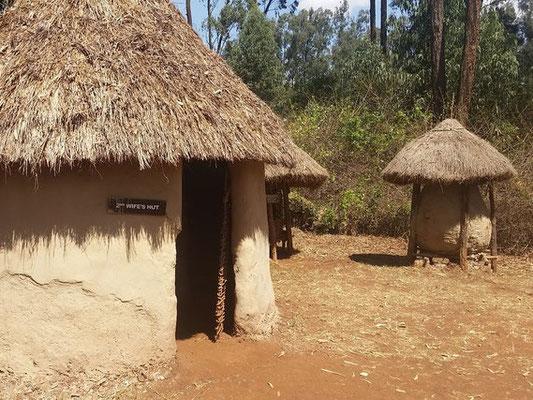 Eine Hütte in den Bomas of Kenya