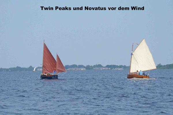 Twin Peaks und Novatus vor dem Wind