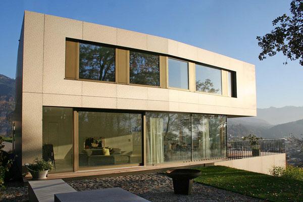 Haus am Hang Metallfassade ©2019 Welte Architetkur