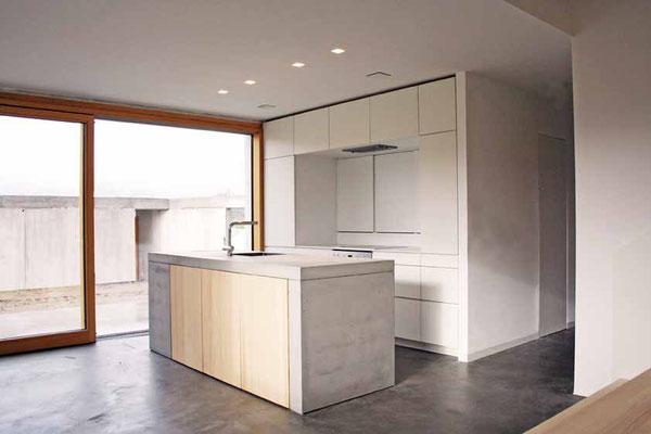 Wohnküche Beton  ©2019 Welte Architetkur