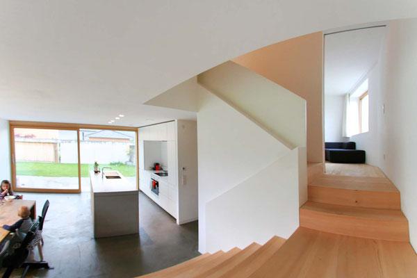 offenes Wohnen auf mehreren Stockwerken  ©2019 Welte Architetkur
