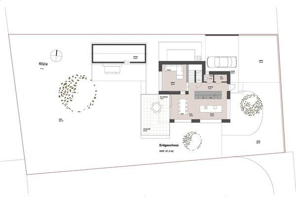 Einfamilienhaus und Schuppen  ©2019 Welte Architektur