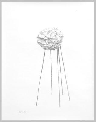Stilthouse, 2015. Bleistift auf Papier, 50 x 40 cm.