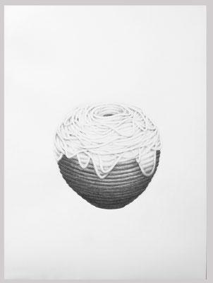 Schlingel, 2018. Bleistift auf Papier, 80 x 60 cm.
