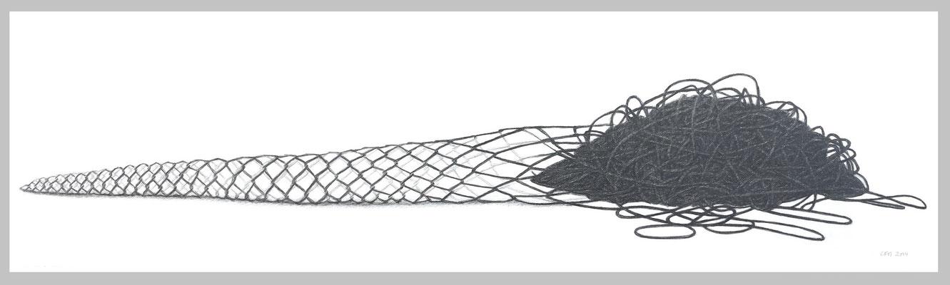 Schöpfung, 2014. Bleistift auf Papier, 38 x 111 cm.