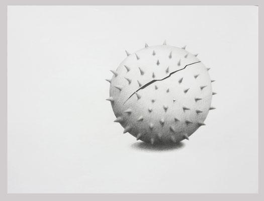 Morgenstern, 2018. Bleistift auf Papier, 60 x 80 cm.