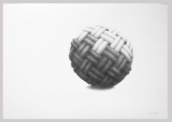Ohne Titel, 2018. Bleistift auf Papier, 60 x 80 cm.