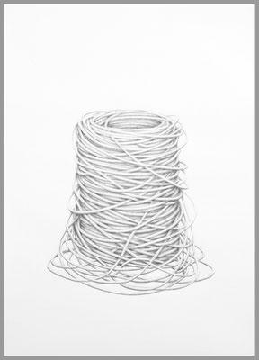 Ohne Titel, 2017. Bleistift auf Papier, 100 x 70 cm.