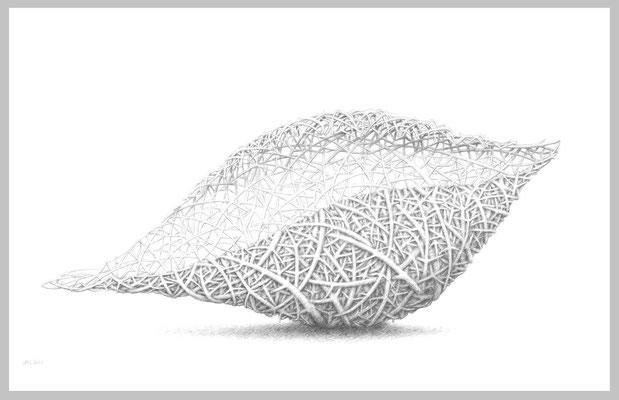 Shell, 2012. Bleistift auf Papier, 70 x 100 cm.