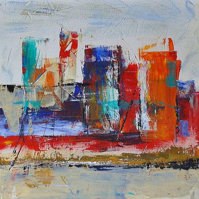 Bild 3  - 3er Serie, Acryl  auf Leinwand, 40 x 40 cm, © Uli Körber | KOERBERsART | Schefflenz