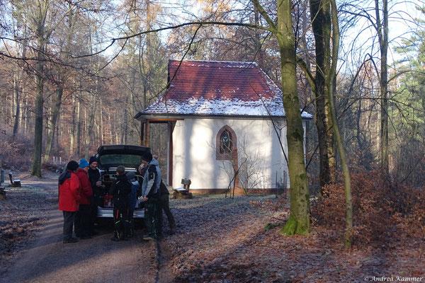 Pause an der Edelweißkapelle