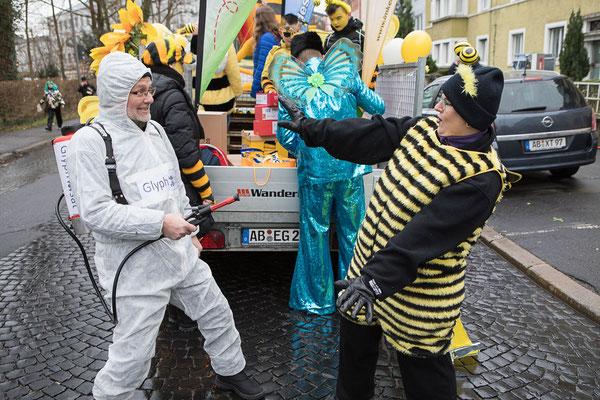 Glyphosat jagt Biene: Die Kreisvorsitzenden in Aktion